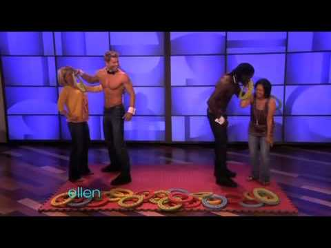 Ellen Sexy Hunks Playing Twister!!!