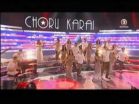 Chorų karai 2012 Kitava ir Šiaulių Saulės choras (2012 02 12).mp4