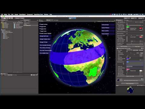 Preview of the Ticker support in World Political Map V3 for Unity