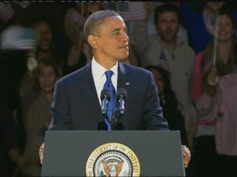 US election: President Barack Obama's victory speech in full
