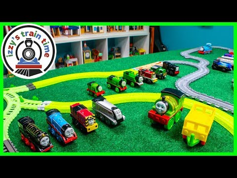 THE BATTLE OF THE PERCY'S! TRACKMASTER and TAKE N PLAY! Fun Toy Trains for Kids!