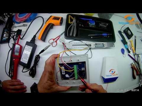 Rfid Access Control + gâche électrique+ sonnette+Câblage / طريقة توصيل الكابلات