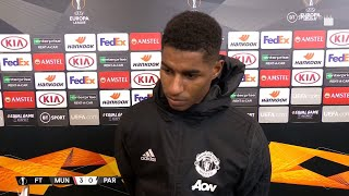 """Mason Greenwood has a lot of quality"" Marcus Rashford reacts to Man Utd 3-0 Partizan"