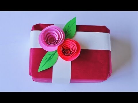 C mo hacer un adorno para envoltorio de regalo - Manualidades en tela para regalar ...