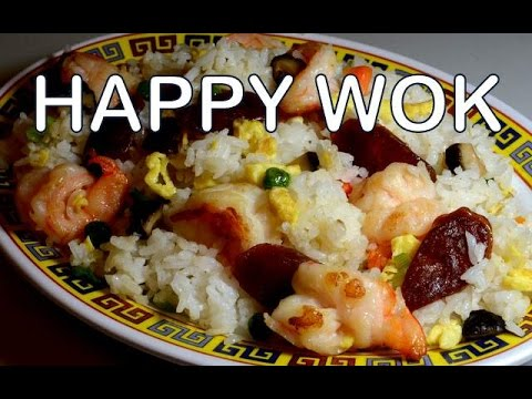 Fried Rice with Chinese Sausage and Shrimps: Authentic Cantonese Cooking