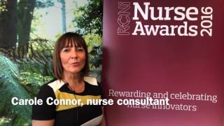 Carole Connor helped set up a local oncology chemo service for #cancer patients #nurseawards