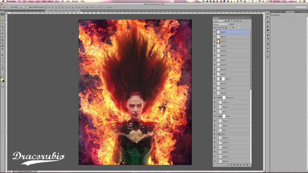 Phoenix Photoshop Tutorial Dark Phoenix Photoshop Layer