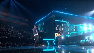Ed Sheeran - Castle On The Hill & Shape Of You feat. Stormzy [Live from the Brit Awards 2017]