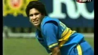 Sachin Tendulkar's 1st Run In One Day International