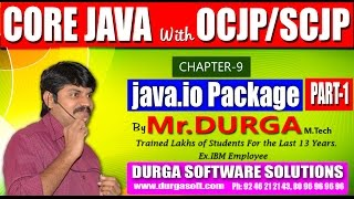 Core Java With OCJP/SCJP-java IO Package-Part 1 || File I/O