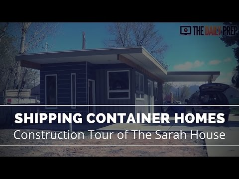 Tour of Shipping Container House - Sarah House Utah