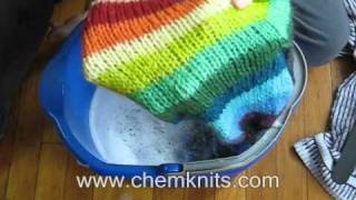 UNCUT: How to Felt your knitting by hand -- In a Bucket EXTENDED VERSION
