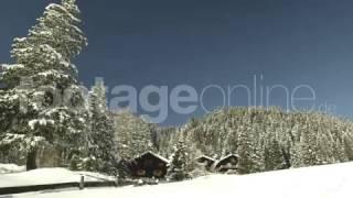 Idylic Winter Landscape footage