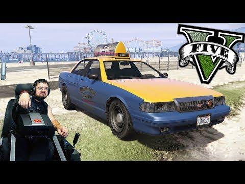 Кастрюлим на такси в GTA5 на руле Fanatec ClubSport