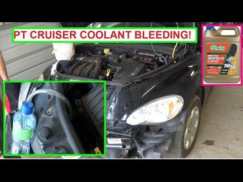 Chrysler Pt Cruiser Cooling System Bleeding  Coolant Bleeding  Antifreeze bleeding procedure