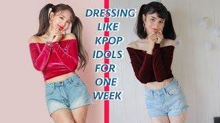 Dressing Exactly Like KPOP IDOLS  For One Week Straight (School Teacher Was SHOOK)