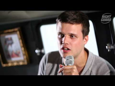 Exclusive interview with White Lies for OFF GUARD GIGS at Latitude, Suffolk, 2012