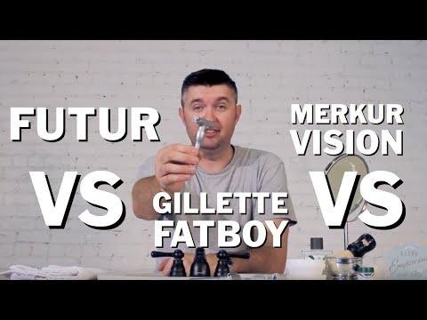 Merkur Futur vs Merkur Vision vs Gillette Fatboy Razor Emporium Wet Shave Showdown