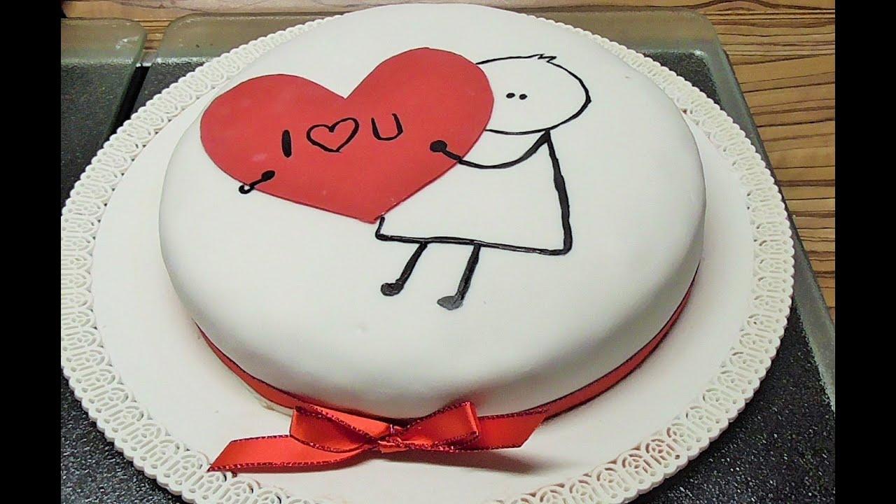 Sticker Torte mit Herz zum Valentinstag - YouTube