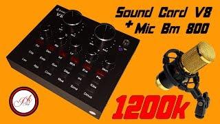 """Hướng dẫn lắp đặt Bộ Sound Card V8 Livetream, Karaoke,...âm thanh quá """" ĐỈNH"""" Giá 1200K ."""