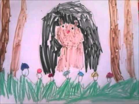 Мишка в берлоге. Ребёнок рисует и рассказывает (4.5 года)