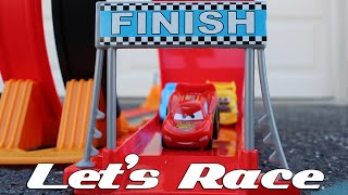 Disney Cars Rip-Start Challenge Loop Track and Riplash Racers Playset - Disney Cars Toys