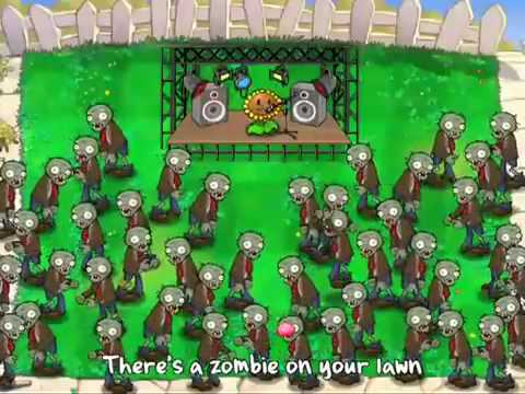 Plantas contra Zombies video musical - Zombie on your lawn -