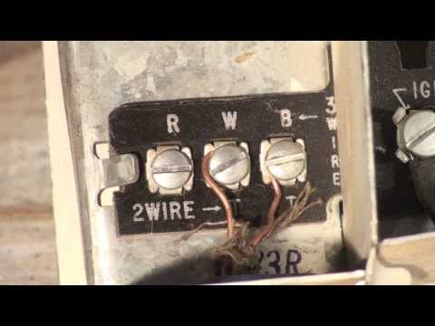 Thermostat wiring for the oil furnace