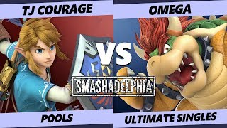 Smashadelphia 2019 SSBU - TJ Courage (Link, Pac-Man) Vs. Omega (Bowser) Smash Ultimate Pools