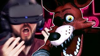 Getting VERY Scared In Five Nights At Freddy's VR (FNAF VR) - Part 1