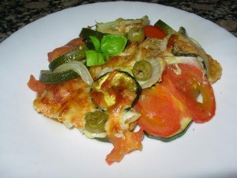 Receta de Calabacin al horno con tomate y queso!!