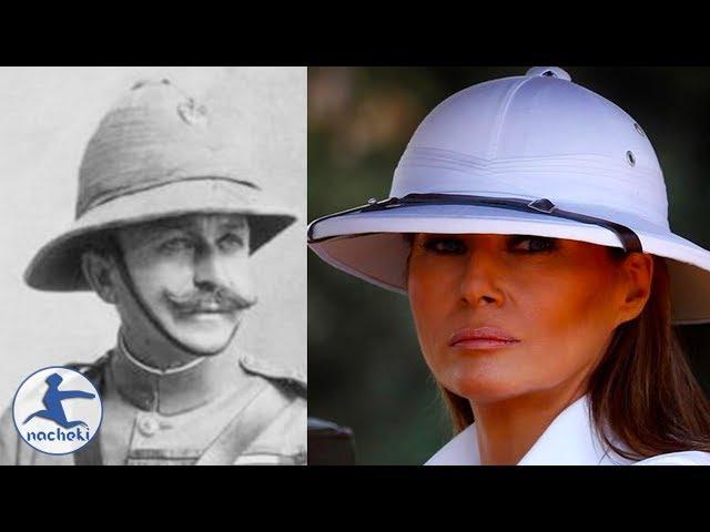 Melania Trump Wears Colonial Pith Helmet in Kenya During Africa Tour