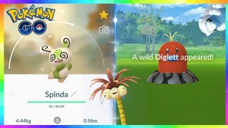 2x SHINIES CAUGHT - NEW SHINY SPINDA & SHINY ALOLAN POKEMON in Pokemon Go!