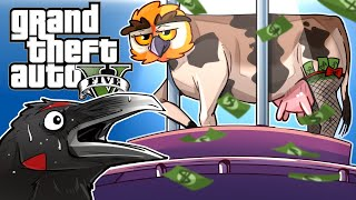 GTA 5 - CROWS, COWS, DOGS & THE STRIP CLUB!!! (Funny Moments & More Peyote plants)