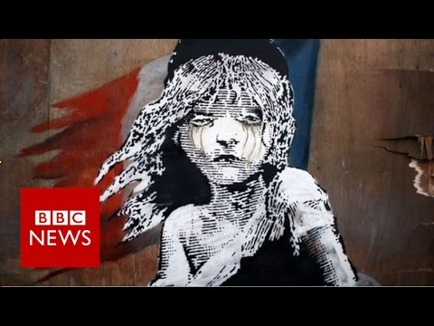 Banksy art criticises treatment of Calais  refugees - BBC News