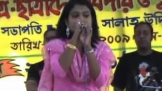 Rangpur  girl singging a song madhobi lota bd funny