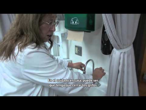 Infection control and proper hand washing - Spanish