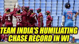 India vs West Indies 4th ODI: Virat Kohli & Co. fail in a sub-200 chase in 11 years |Oneindia News