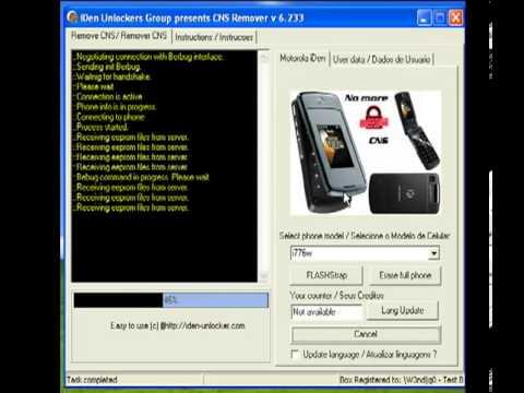 Desbloquear Motorola iDEN CNS Remover 6 23 avi
