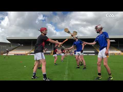 Sample hurling coaching session with GAA National Hurling Development Manager, Martin Fogarty.