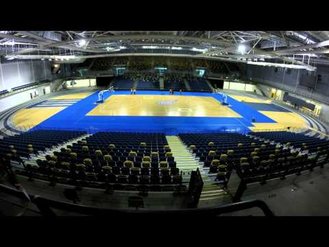 Time-lapse of the Glasgow Rocks Court Build at the Emirates Arena