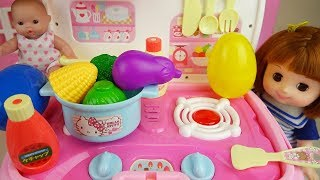 Baby doli Kitchen toys and baby doll surprise eggs play
