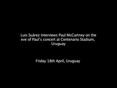 Luis Suárez interviews Paul McCartney