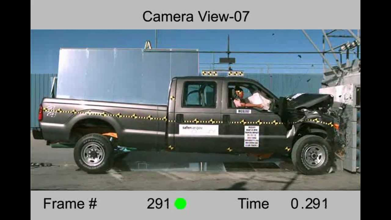 Ford F 250 Super Crew 2012 Frontal Crash Test Nhtsa