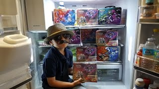 Opening The BEST Sun & Moon Collectors Chest!! Battle Vs. CARLS CUSTOM POKEMON LUNCH TIN!! GX & EX!