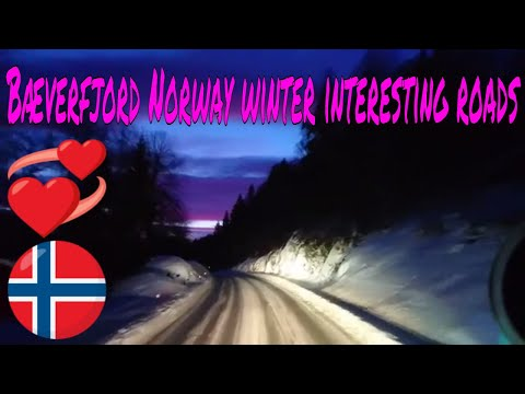 Trucking Girls TV to Bæverfjord winter interesting road beautiful красиво