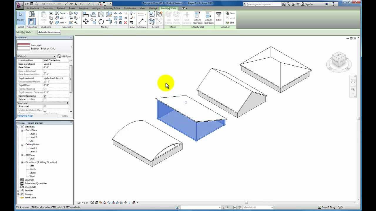 Revit Tutorials Roofs Youtube