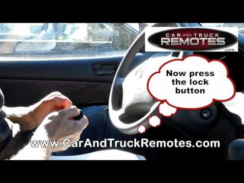 Toyota Camry Replacement Remote Programming 2000 2006