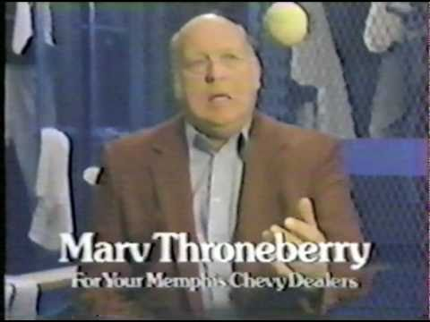 CRAIG BREWER finds MARVELOUS MARV THRONEBERRY commerical for MEMPHIS CHEVY