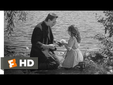 Frankenstein (6/8) Movie CLIP - The Monster Befriends Maria (1931) HD